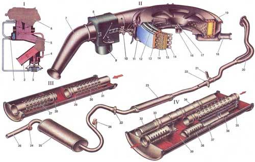 Воздушный фильтр, глушители