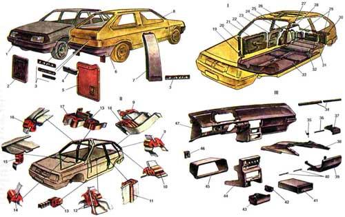автомобиля ВАЗ-2108; 8.